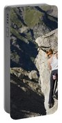 Woman Rock Climbing, India Portable Battery Charger