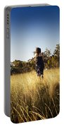 Woman Running Through Field Portable Battery Charger