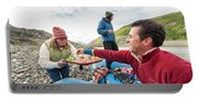 Woman Serving Appetizers, Alsek River Portable Battery Charger
