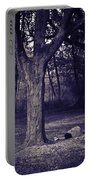 Woman Under A Tree Portable Battery Charger
