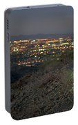 Woman Trail Running In South Mountain Portable Battery Charger