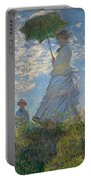 Woman With A Parasol Madame Monet And Her Son  Portable Battery Charger