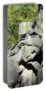 Woman With Cross Cave Hill Cemetery Louisville Kentucky Usa Portable Battery Charger