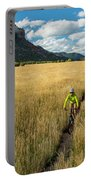 Woman With Daughter Riding Mountain Portable Battery Charger