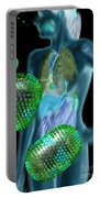 Woman With Flu Viruses Portable Battery Charger