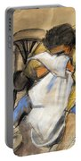 Woman With White Towel - Helene #9 - Figure Series Portable Battery Charger