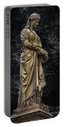 Woman With Wreath Portable Battery Charger