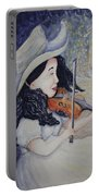 Woman's Autumnal Twilight Serenade Portable Battery Charger