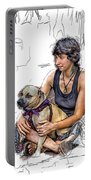 Womans Best Friend Portable Battery Charger by John Haldane