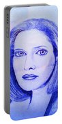 Womans Portrait  Portable Battery Charger