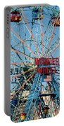 Wonder Wheel Of Coney Island Portable Battery Charger