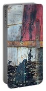 Wood And Metal Abstract Portable Battery Charger by Jill Battaglia
