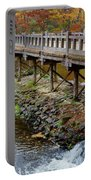 Wood Bridge And Autumn Color Portable Battery Charger