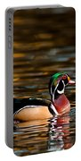Wood Duck At Morning Portable Battery Charger