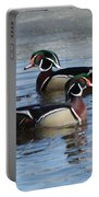 Wood Duck Drake Pair Portable Battery Charger