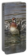 Wood Duck Drake Wing Flap Portable Battery Charger