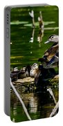 Wood Duck Family Portable Battery Charger