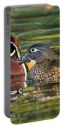 Wood Duck Pair Portable Battery Charger