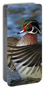Wood Duck Standing Ovation Portable Battery Charger