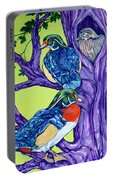 Wood Duck Tree Portable Battery Charger