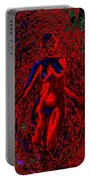 Wood Nymph In Red Power Portable Battery Charger