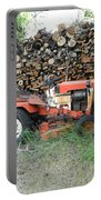 Wood Pile And Lawn Tractor Portable Battery Charger