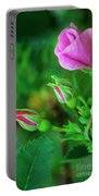 Wood Rose Buds Rosa Woodsii Wild Portable Battery Charger
