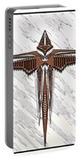 Wood Steel Cross Portable Battery Charger