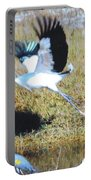 Wood Stork And Blue Heron Portable Battery Charger