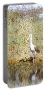 Wood Stork And Ibis And Heron Portable Battery Charger