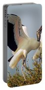 Wood Stork Courtship Display Portable Battery Charger