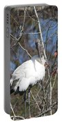 Wood Stork In A Tree Portable Battery Charger
