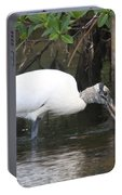 Wood Stork In The Swamp Portable Battery Charger