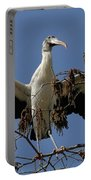 Wood Stork Preparing To Fly Portable Battery Charger