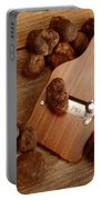 Wood Truffle Slicer Portable Battery Charger