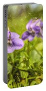 Wood Violet Portable Battery Charger