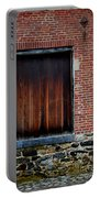 Wood Window Brick Wall Portable Battery Charger