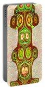Woodcraft Ghosts Spirits Indian Native Aboriginal Masks Motif Symbol Emblem Ethnic Rituals Display H Portable Battery Charger
