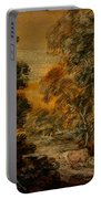 Wooded Landscape With Herdsman And Cattle Portable Battery Charger