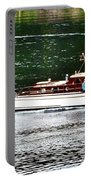 Wooden Boat With Skiff Portable Battery Charger