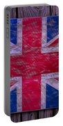 Wooden British Flag Portable Battery Charger