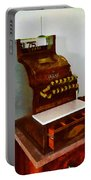 Wooden Cash Register Portable Battery Charger