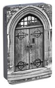Wooden Door At Tower Hill Bw Portable Battery Charger