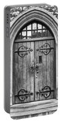 Wooden Door At Tower Hill Bw Portable Battery Charger by Christi Kraft