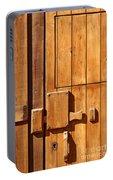 Wooden Door Detail Portable Battery Charger