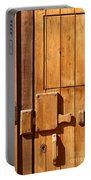 Wooden Door Detail Portable Battery Charger by Carlos Caetano