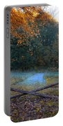 Wooden Fence In Autumn Portable Battery Charger