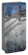 Wooden Fence Of A Friesian Horse Pasture On Windmill Island Portable Battery Charger
