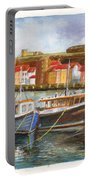 Wooden Fishing Boats In The Whitby Fleet Of Northern England Portable Battery Charger