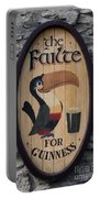 Wooden Guinness Sign Portable Battery Charger